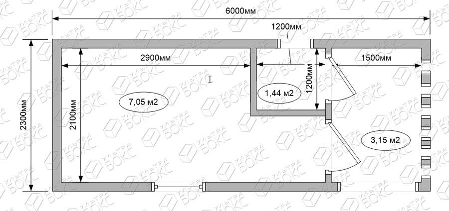 БВ-01-6м-Бытовка-Веранда-схема