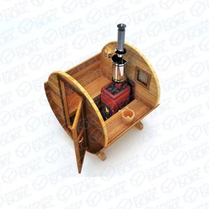 Баня-бочка-2м-Св-коричневая