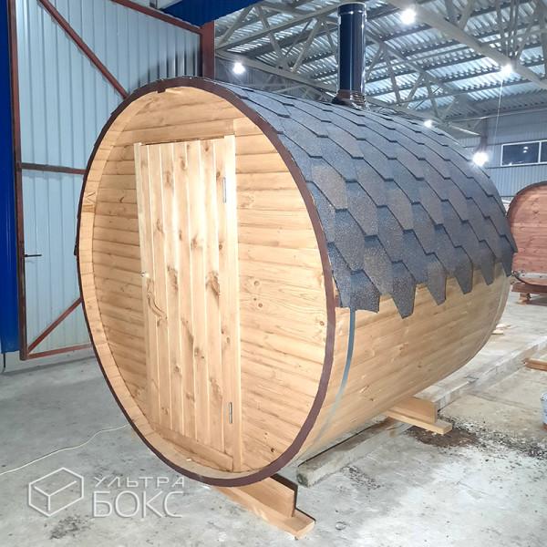 Баня-бочка-2м-Стандарт-Светло-коричневая-02