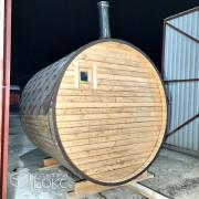 Баня-бочка-2м-Стандарт-Светло-коричневая-03