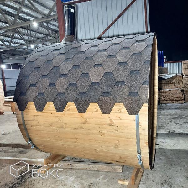 Баня-бочка-2м-Стандарт-Светло-коричневая-06