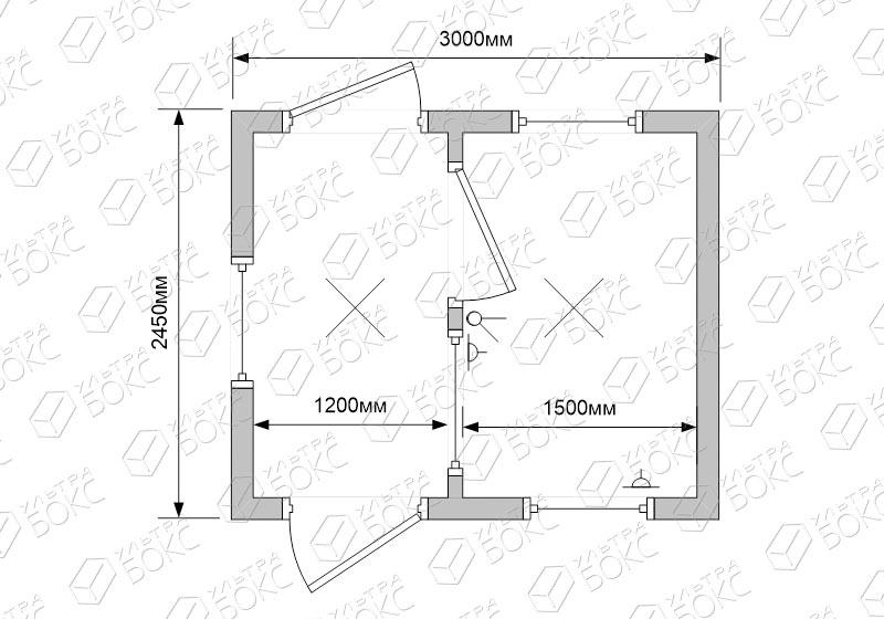 Блок-контейнер-БКП-01-Проходная-схема-2