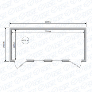 Блок-контейнер-БКС-00-6м-2-двери