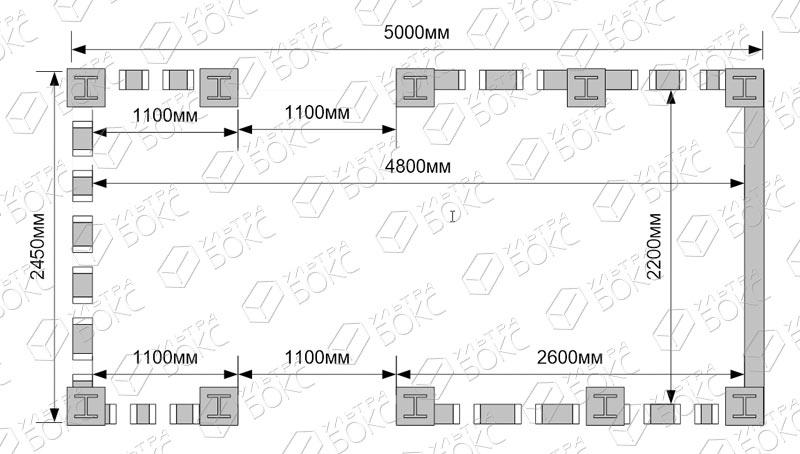 Блок-контейнер-Веранда-схема