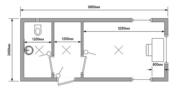Блок-контейнер-КПП-с-санузлом-схема