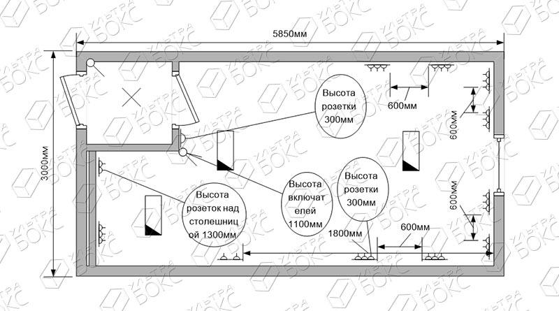 Блок-контейнер-Прорабская-схема