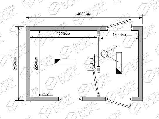 Блок-контейнер-проходная-схема