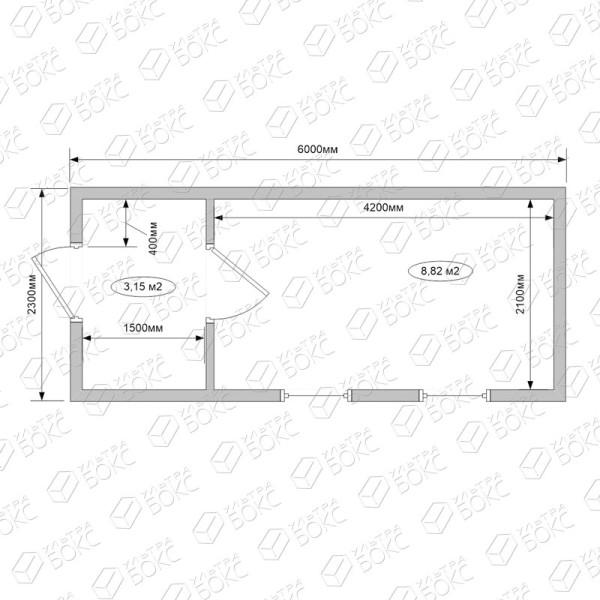 Б-016м-Бытовка-Блок-Хаус-схема