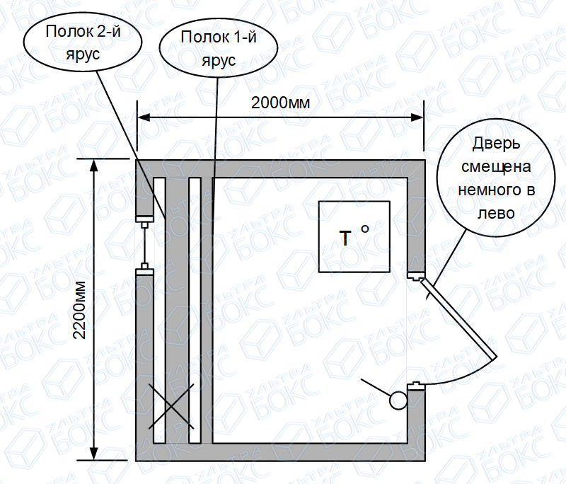 Квадро-баня-2м-на-сваях-с-обвязкой-и-ступенями-схема