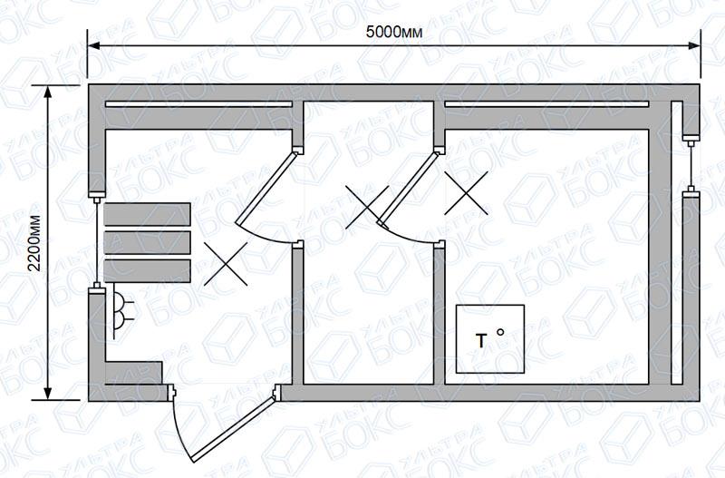 Квадро-баня-5м-топка-в-парной,-двери-стекло-схема